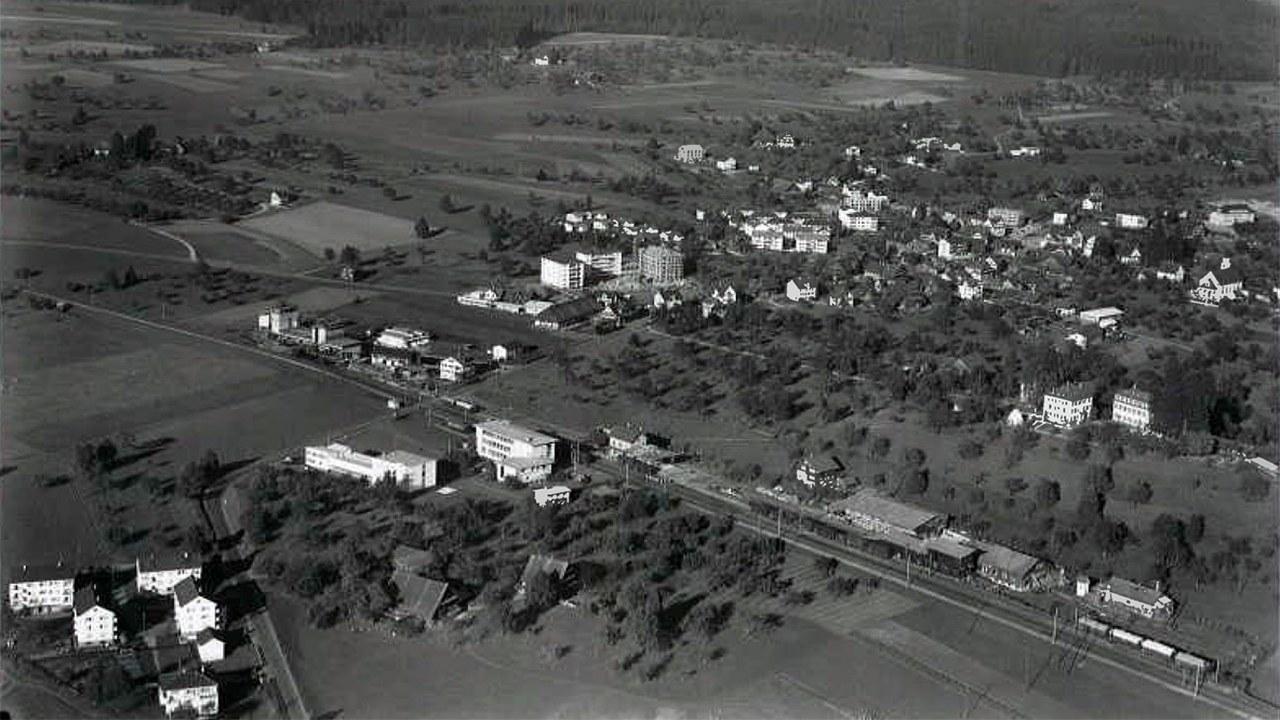 Luftaufnahme aus dem Jahr 1961.