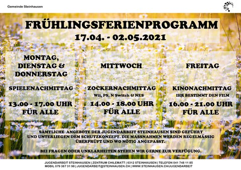 Frühlingsferienprogramm