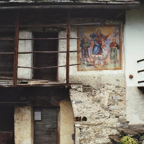 Malerei in Lavertezzo (TI)