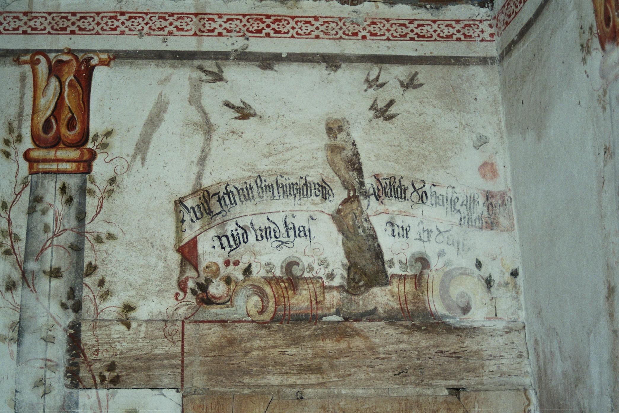 Paradies im Keller, Malerei 1636 Bürglen (UR)