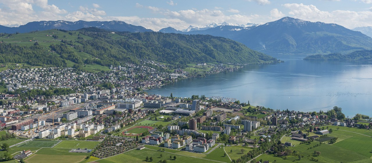 View above the lake of Zug